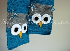 Owl hat, scarf and mittens (Kathryn's Bespoke Blankets) Tags: scarf mittens kids childrens baby babies gift xmas christmas winter autumn crochet knitting knit owl owls hat cute