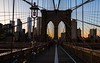 lines and lights (lucafabbricesena) Tags: brooklyn bridge lines light twilight architecture nikon d800 newyork perspective city skykraper simmetry streetart sunset manhattan brooklynbridge nyc