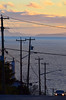 Pacific (James_D_Images) Tags: whiterock britishcolumbia pacificocean pacificavenue ocean water sea hill car slope steep utility pole wires islands sky clouds semiahmoobay pacificnorthwest sunset