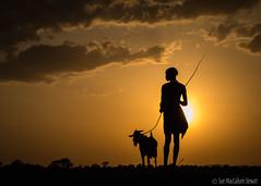 Man & Goat (Sue MacCallum-Stewart) Tags: africa ethiopia omovalley goat sun man