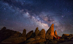 "Milky Way over Alabama Hills (IronRodArt - Royce Bair (""Star Shooter"")) Tags: milkyway stars heavens universe nightsky nightphotography nightscape nightscapes pinnacles alabamahills granite easternserrias easterncalifornia california starrynightsky"