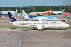 Saudi Arabian Airlines Boeing 787-9 Dreamliner HZ-AR12 (EK056) Tags: saudi arabian airlines boeing 7879 dreamliner hzar12 manchester airport