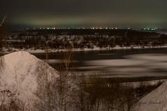 DSC_2084 (Sergey Udalov) Tags: beautiful красивый nature природа outdoor landscape ландшафт night ночь light свет огни water вода river riverbed река ока oka русло coast берег ice лёд icefloe льдина frozen замёрзший
