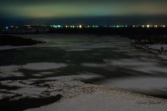 DSC_2081 (Sergey Udalov) Tags: beautiful красивый nature природа outdoor landscape ландшафт night ночь light свет огни water вода river riverbed река ока oka русло coast берег ice лёд icefloe льдина frozen замёрзший