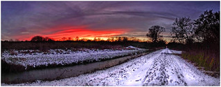 Winter Sunset Panorama.