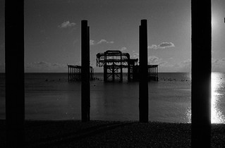 West Pier framed by former supports