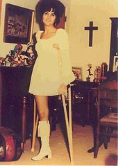 41-67a Late 1960s girl (jackcast2015) Tags: handicapped disabled disabledwoman cripledwoman onelegwoman oneleggedwoman monopede amputee legamputee crippledwoman