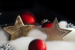 Christmas (Ralph_H) Tags: weihnachten christmas winter star golden deko canon eos70d