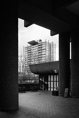 Great Arthur House (cybertect) Tags: chamberlinpowellandbon goldenlaneestate london olympusomzuikoshift35mmf28 sonya7 thebarbican architecture blackwhite blackandwhite building concrete monochrome
