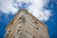 Athens (morten f) Tags: athens greece hellas athen aten akropolis acropolis ruins ruiner tempel temple sky architecture blue cloud growing tree out stone tower tårn tre old
