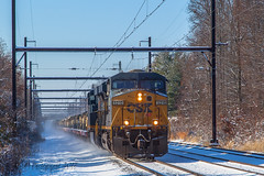 CSXT W857 @ Oxford Valley, PA (Darryl Rule's Photography) Tags: 2017 bigoakrd buckscounty cptl csx csxt clouds cloudy december diesel diesels eastbound fall freight freighttrain ge heacockrd intermodal military militarytrain oxfordvalley pa pennsylvania q032 railroad railroads snow sun sunny townshiplinerd train trains trentonsub w857 westbound