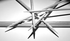 Sticks (christiane.grosskopf) Tags: sticks blackwhite bw schwarzweiss sw spiese shadow schatten macromonday macromondays
