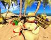 Xmas Getaway (fionadempsey) Tags: christmas snowman island curvy xmas bikini sl tits ass playful naughty