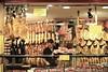 iberian jamón in seville (hannu & hannele) Tags: jamon spanish dried ham food seville andalusia spain europe nikon d700 shop street night lights