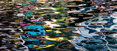 Liquorice allsorts (snowyturner) Tags: reflections frenchriviera colours candy sweets swirls boats buildings harbour