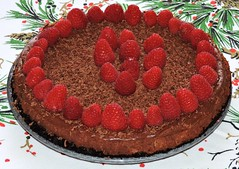 Chocolate raspberry cheesecake (Will S.) Tags: mypics cheesecake chocolate raspberry birthday