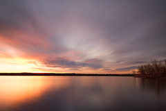 Daybreak, Lake Chatfield (mclcbooks) Tags: sunrise dawn daybreak lake clouds sky silhouettes trees le longexposure landscape chatfieldstatepark lakechatfield colorado