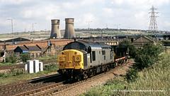 20/06/1990 - Tinsley South Junction, Sheffield, South Yorkshire. (53A Models) Tags: britishrail railfreight class37 37104 diesel freight tinsleysouthjunction sheffield southyorkshire train railway locomotive railroad