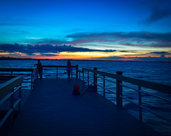 Fishing Pier Sunset - Sanibel (Will-Jensen-2020) Tags: sanibelphotographer pier sunset sanibelisland park lighthousebeachpark gulfofmexico sancarlosbay gulf usa florida island sanibel sancap fishing color blue