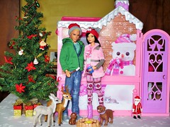 ⛄💑❄️ (flores272) Tags: leadoll kendoll barbie barbiedoll winter barbiewinterfamilybuildup barbiewintercabin deer christmas bonfire barbieclothing madetomovebarbie barbiefashionistas toydog christmastree doll dolls toy toys