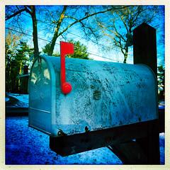Raise a Red Flag (Timothy Valentine) Tags: 0118 hct fbpost mailbox 2018 home hipstamatic eastbridgewater massachusetts unitedstates us