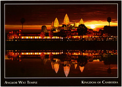 postcard - Angkor Wat, Cambodia 3 (Jassy-50) Tags: postcard angkor angkorwat temple siemreap cambodia angkorarchaeologicalpark khmer archaeology ancient ruins unescoworldheritagesite unescoworldheritage unesco worldheritagesite worldheritage whs sunset reflections