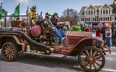 Where is the Fire Hazard? (ProPeak Photography) Tags: america antique blue blueskies colors famousplace fireengine green newengland newport northamerica parade people places red rhodeisland stpatricksday streetscene touristattraction travelandtourism usa unitedstates winter auto