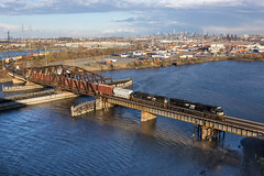 Off to A-Town (sully7302) Tags: norfolk southern emd sd70acu kearny new jersey meadowlands york skyline cp karny ph branch prr conrail shared assets river meadows bridge railroad transport train trains freight ns ge c408w point no pointnopoint