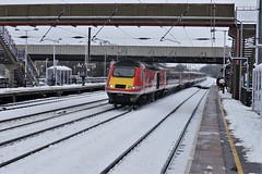43239 in the snow (gooey_lewy) Tags: east coast mainline snow railway train white cold december class 43 diesel locomotive hst mtu engined british railways br arl arlesey station bedforshire beds virgin trains mark 3 coaches mk3 43239