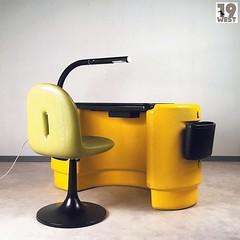 A Hadi desk with matching chair from the 1970's, designed by Ernst Igl for Kauteka. For sale on www.19west.de. #19West #vintage #spaceage #schreibtisch #ernstigl #möbel #designklassiker #mcm #midcentury #modern #fifties #sixties #seventies #furniture #hom (nineteenwestfurniture) Tags: ifttt instagram 19west vintage design interior