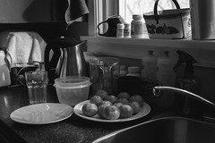 Ty's counter (Franky2step) Tags: kitchen xf27mmf28 fuji bw