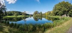 Walcot Hall lake (small pano) (Ruth Flickr) Tags: 9 fort shropshire walcothall family pano panorama reception wedding explore 366 explore366
