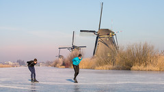 Winter Dreams (Wim Boon (wimzilver)) Tags: winter canon wimboon unescoworldheritage kinderdijk skating ice holland nederland netherlands nature dream canoneos5dmarkiii canonef70200mmf4lisusm molentocht molentocht2018