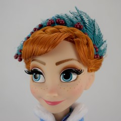 2017 Anna Limited Edition 17 Inch Doll - Olaf's Frozen Adventure - Disney Store Purchase - Deboxed - Standing - Closeup Right Front View #2 (drj1828) Tags: disneystore limitededition doll 17inch frozen olafsfrozenadventure collectible 2017 anna purchase deboxed