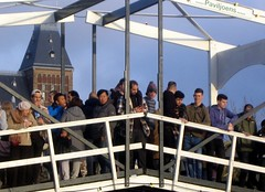 All on the Bridge (Quetzalcoatl002) Tags: bridge game demonstration mass group spectators amsterdam museumplein winter sports