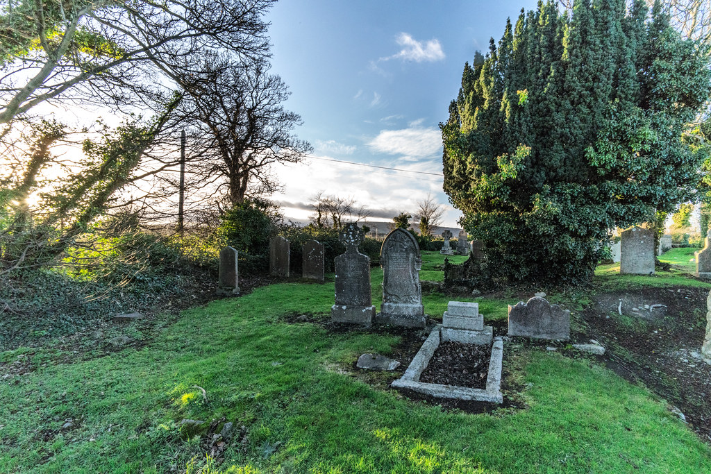 ANCIENT CHURCH AND GRAVEYARD AT TULLY [LAUGHANSTOWN LANE NEAR THE LUAS TRAM STOP]-134602
