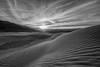 Sunset on the dunes (Roving Vagabond aka Bryan) Tags: deathvalleynationalpark deathvalley blackandwhite blackwhite bw sunset dunes sand sanddunes clouds cloulds landscape explore sun mesquiteflats ca california usa cali socal mountain sky nationalparks national parks