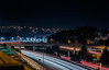highway 280 at john daly boulevard (pbo31) Tags: bayarea california nikon d810 color night dark january 2018 winter boury pbo31 dalycity sanmateocounty lightstream motion traffic roadway highway 280 over infinity black bart transit garage parking transfer