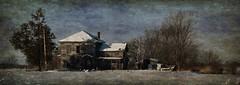 I can still hear the voices (David Sebben) Tags: abandoned farmhouse winter cold bleak snow pano bando voices illinois