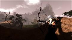 Hunter - Areiyon Fantasy RP (Varosh Santanamiguel) Tags: tod hunt hunting jagdt jäger bogen schwert mittelalter fantasy secondlife reveobscura bento posen mesh sim roleplay areiyon fight snake kill kampf katana