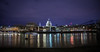 river Thames and St Paul's cathedral ((:Andrzej:)) Tags: london night river saint pauls cathedral