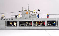 U-Boat VIIc with some interiors. LEGO model, 1:50 scale (LuisPG2015) Tags:
