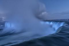 Niagara Falls Canada (sspike@rogers.com) Tags: waterfall ice niagarafalls winter lights blue steverossi longexposure landscape beautiful frost