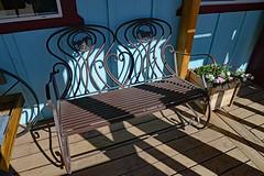 Happy Bench Monday! (BKHagar *Kim*) Tags: bkhagar bench porch wood wooden board hbm shadows westrim grandcanyon az metal