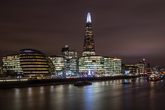 Christmas by the river (sarah_presh) Tags: london cityhall christmas lights christmaslights theshard morelondon nikond750 longexposure outside outdoors winter december