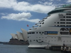 Stern sails (Simon_sees) Tags: allfreepicturesmarch2018challenge sails stern portofcall port holiday vacation travel cruising operahouse sydney cruise royalcaribbean