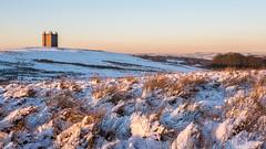 Lyme Cage in the snow (Maria-H) Tags: stockportdistrict england unitedkingdom gb lymepark lymecage snow winter disley cheshire uk olympus omdem1markii panasonic 1235