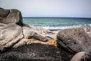 Playa de Janubio. Yaiza.  Reducto pacífico de relajación.