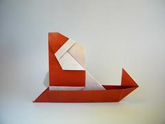 Santa Claus and sleigh - Sanae Sakai (Rui.Roda) Tags: origami papiroflexia papierfalten santa claus sleigh sanae sakai papai noel père noël pai natal natale
