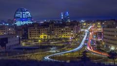 Madrid, sus 4 torres y la Vela. (jetepe72) Tags: madrid torres vela nocturna luces larga exposicion